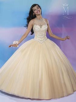 Style 4678 Mary's Gold Size 8 Sheer Lace Ball gown on Queenly