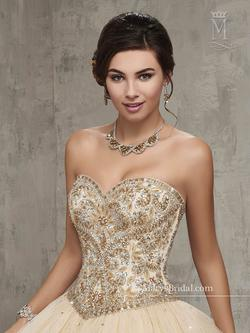 Style 4Q512 Mary's Gold Size 6 Sweetheart Tall Height Lace Ball gown on Queenly
