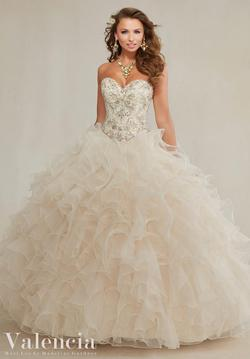 Style 89082 Vizcaya Gold Size 6 Quinceanera Corset Tall Height Ball gown on Queenly