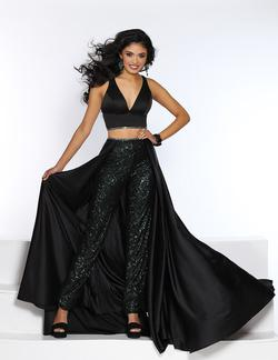 Style 20079 2Cute Prom Black Size 14 Two Piece Fun Fashion Plus Size Jumpsuit Dress on Queenly