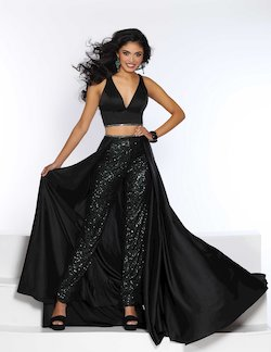 Style 20079 2Cute Prom Black Size 14 Emerald Tall Height Fun Fashion Jumpsuit Dress on Queenly