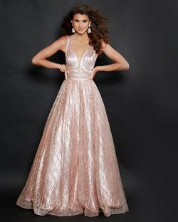 Style 91605 2Cute Prom Pink Size 12 Prom Gold Pageant A-line Dress on Queenly