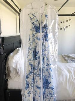 Sherri Hill Blue Size 8 Corset Tall Height A-line Dress on Queenly