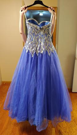 Xcite Blue Size 4 Party Ball gown on Queenly
