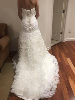 Allure White Size 6 Wedding Corset Mermaid Dress on Queenly
