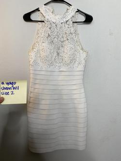 Sherri Hill White Size 2 Sorority Formal Cocktail Dress on Queenly