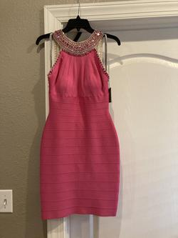 Luck Lu Pink Size 6 Sheer Cocktail Dress on Queenly
