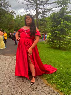 Red Size 20 Ball gown on Queenly