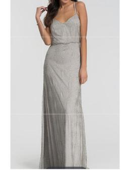 Silver Size 10 Straight Dress on Queenly