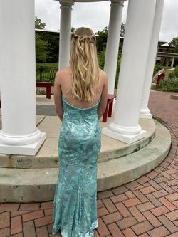 Zoey Grey Blue Size 2 Mermaid Dress on Queenly