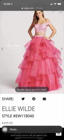Ellie Wilde Pink Size 2 Two Piece Ball gown on Queenly