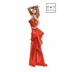 Terani Couture Red Size 6 Pageant Mermaid Dress on Queenly
