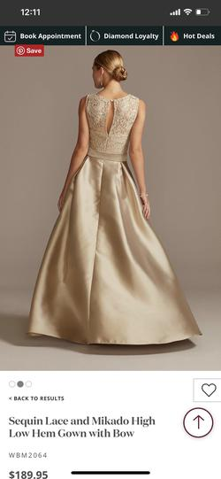 Gold Size 16 Straight Dress on Queenly