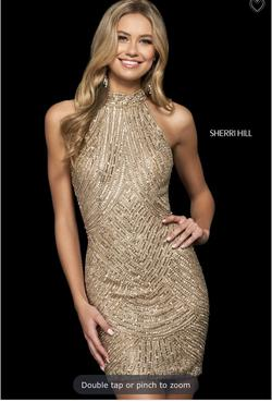 Sherri Hill Gold Size 4 Cocktail Dress on Queenly