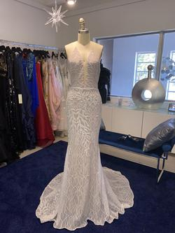 Fernando Wong White Size 4 Pageant Halter Straight Dress on Queenly