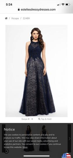 Xscape Blue Size 4 Prom Ball gown on Queenly