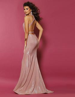 Style 20029 2Cute Prom Pink Size 6 Halter Tall Height Mermaid Dress on Queenly