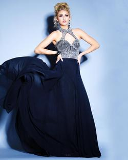 Style 71030 2Cute Prom Black Size 16 Halter Tall Height A-line Dress on Queenly