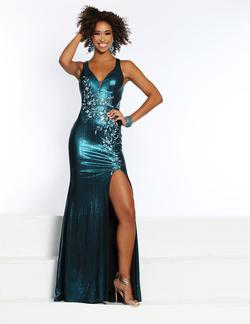 Style 20045 2Cute Prom Blue Size 4 Tall Height Side slit Dress on Queenly