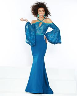 Style 91447 2Cute Prom Blue Size 4 Prom Mermaid Dress on Queenly