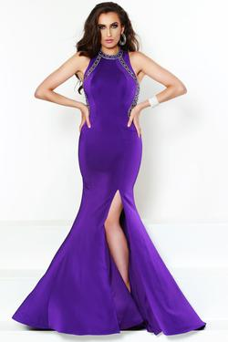 Style 81010 2Cute Prom Purple Size 6 Pageant Jersey Side slit Dress on Queenly