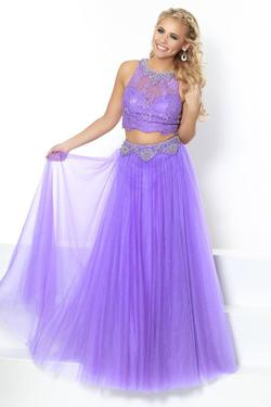 Style 81016 2Cute Prom Purple Size 10 Tulle Tall Height A-line Dress on Queenly