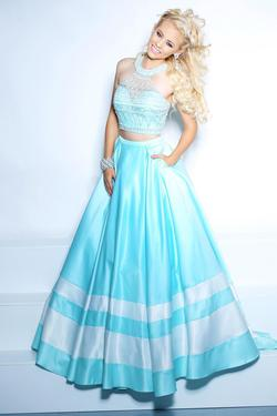 Style 71087 2Cute Prom Blue Size 8 Tall Height A-line Dress on Queenly