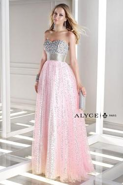 Style 35680 Alyce Paris Pink Size 00 Jewelled Tulle Tall Height A-line Dress on Queenly
