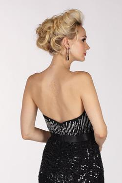 Style 6839 Alyce Paris Black Size 6 Sweetheart Train Sheer Tall Height Mermaid Dress on Queenly