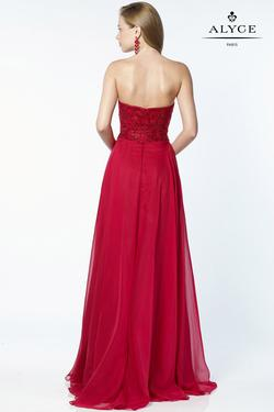 Style 6684 Alyce Paris Red Size 00 Tulle Sweetheart Tall Height A-line Dress on Queenly