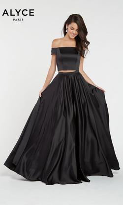Style 1426 Alyce Paris Black Size 4 Tall Height A-line Dress on Queenly