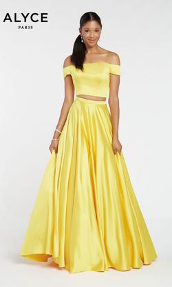 Style 1426 Alyce Paris Yellow Size 2 Tall Height A-line Dress on Queenly