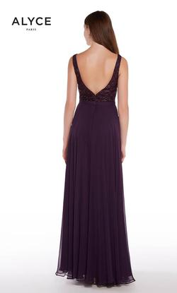 Style 1314 Alyce Paris Purple Size 10 Prom A-line Dress on Queenly