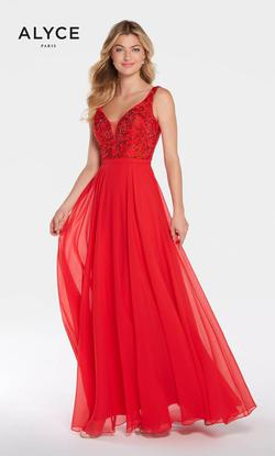 Style 1314 Alyce Paris Red Size 2 Tulle Backless Tall Height A-line Dress on Queenly