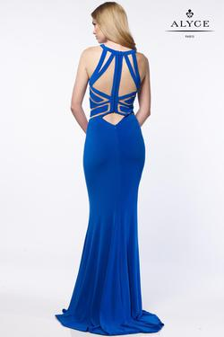 Style 8013 Alyce Paris Blue Size 4 Tall Height Mermaid Dress on Queenly