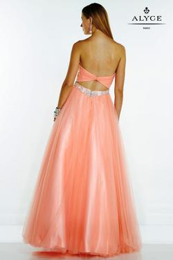 Style 1075 Alyce Paris Orange Size 18 Tall Height Bridesmaid A-line Dress on Queenly