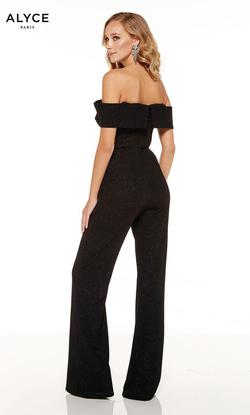 Style 60802 Alyce Paris Black Size 2 Prom Nightclub Jumpsuit Dress on Queenly