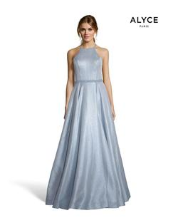 Style 60717 Alyce Paris Blue Size 2 Tall Height Ball gown on Queenly
