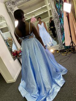 Sherry hill Blue Size 12 Pageant Tall Height Ball gown on Queenly