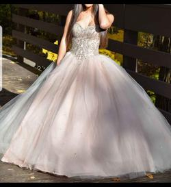 Mori Lee Nude Size 2 Ball gown on Queenly