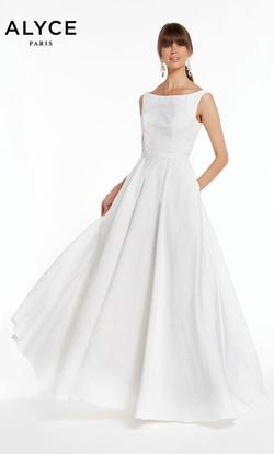 Style 60339 Alyce Paris White Size 4 Wedding Tall Height Ball gown on Queenly