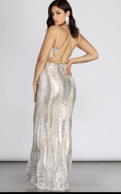 Silver Size 4 Mermaid Dress on Queenly