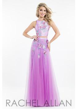 Rachel Allan Purple Size 4 Pageant Multicolor Fitted Straight Dress on Queenly