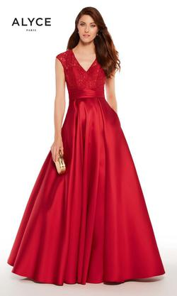 Style 27278 Alyce Paris Red Size 14 Tall Height Prom Ball gown on Queenly