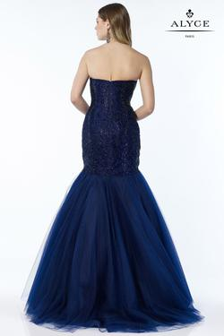 Style 6751 Alyce Paris Blue Size 0 Pageant Tall Height Mermaid Dress on Queenly