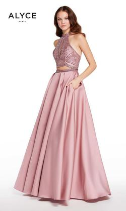 Style 60223 Alyce Paris Pink Size 6 Tall Height A-line Dress on Queenly