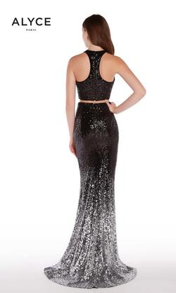 Style 60031 Alyce Paris Black Size 10 Pageant Tall Height Mermaid Dress on Queenly