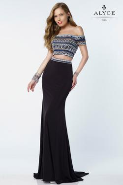 Style 6694 Alyce Paris Black Size 00 Prom Tall Height Mermaid Dress on Queenly
