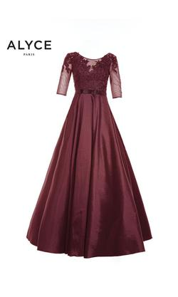 Style 27220 Alyce Paris Red Size 8 Belt Mini Tall Height Ball gown on Queenly