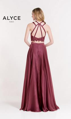 Style 6844 Alyce Paris Pink Size 10 Bridesmaid Prom Wedding Guest Side slit Dress on Queenly